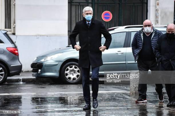 Arsene WENGER during the Funeral Ceremony on December 21, 2020 in Paris, France.