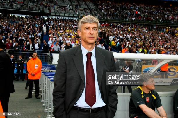 Arsene Wenger head coach of Arsenal during the Champions League Final match between Barcelona and Arsenal at Stade de France Paris France on May 17th...