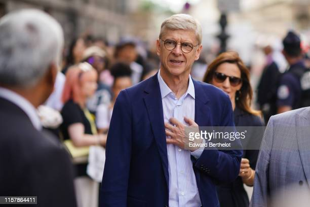 Arsene Wenger is seen in the streets of Paris during Paris Fashion Week Menswear Spring/Summer 2020 on June 23 2019 in Paris France