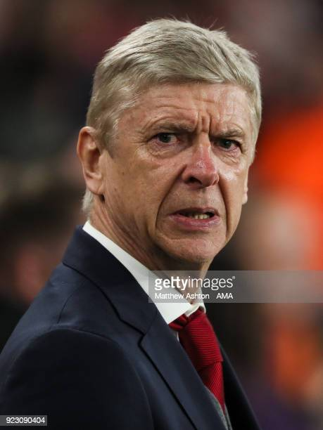 Arsene Wenger manager of Arsenal during UEFA Europa League Round of 32 match between Arsenal and Ostersunds FK at the Emirates Stadium on February 22...