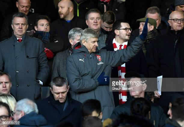 Arsene Wenger Manager of Arsenal reacts during The Emirates FA Cup Third Round match between Nottingham Forest and Arsenal at City Ground on January...