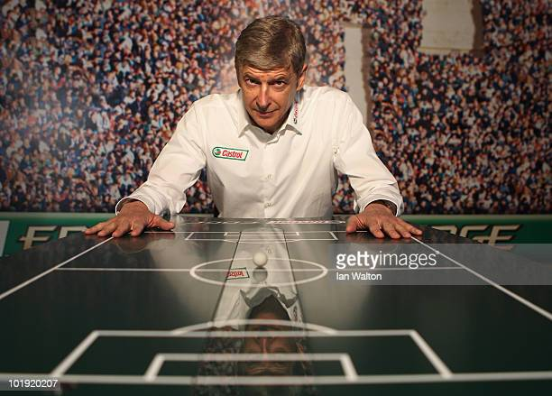 Arsene Wenger poses at the Castrol Performance Lab in Johannesburg on June 9 2010 in Johannesburg South Africa Wenger gave an exclusive preview of...