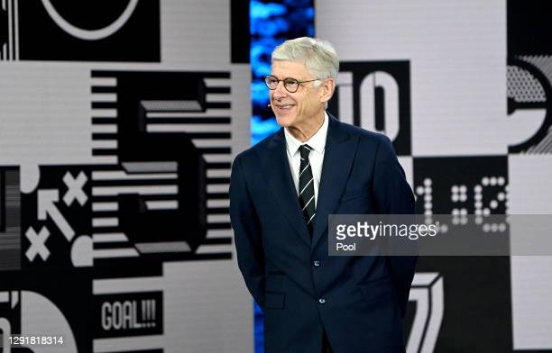 Arsene Wenger reacts while awarding The Best FIFA Women's Coach award to Sarina Wiegman during the The Best FIFA Football Awards on December 17, 2020...