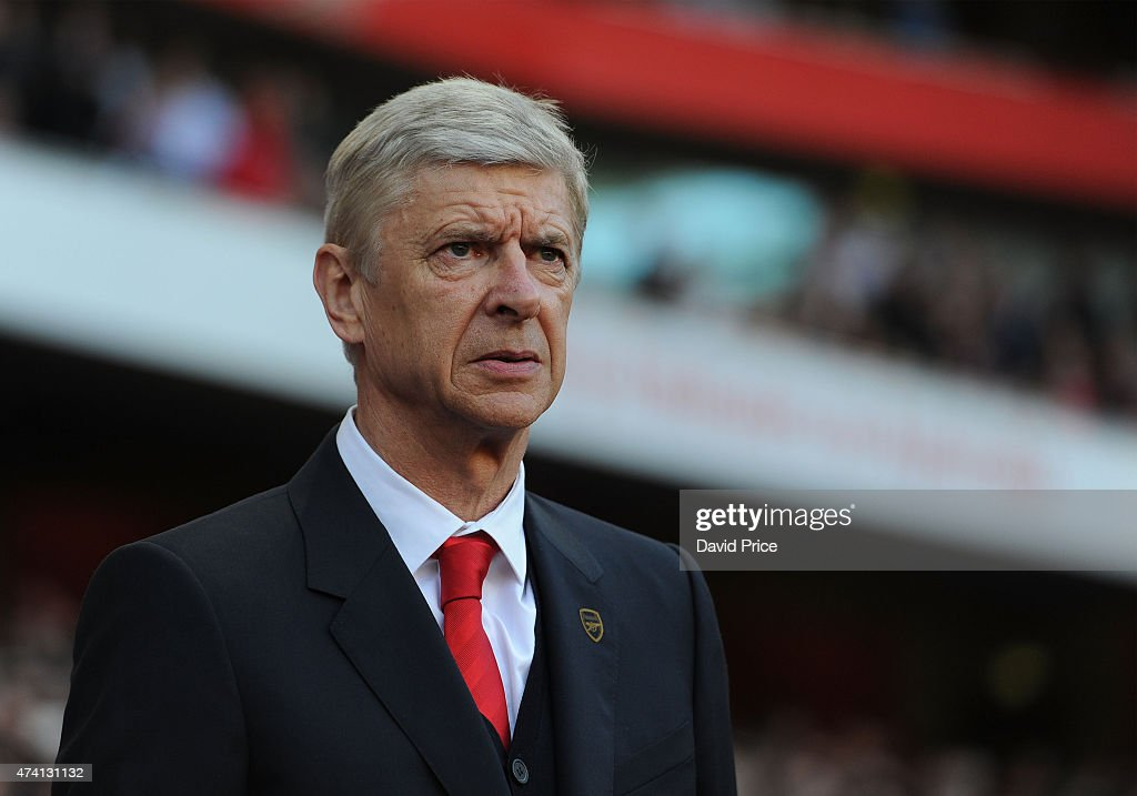 Arsene Wenger the Arsenal Manager before the match between Arsenal and Sunderland in the Barclays Premier League at Emirates Stadium on May 20, 2015 in London, England.
