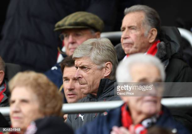 Arsene Wenger the Arsenal Manager before the Premier League match between AFC Bournemouth and Arsenal at Vitality Stadium on January 14 2018 in...