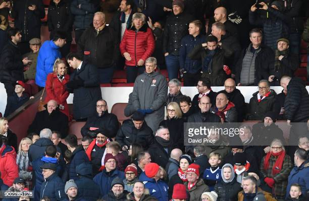 Arsene Wenger the Arsenal Manager in the stand before the Emirates FA Cup 3rd Round match between Nottingham Forest and Arsenal at City Ground on...
