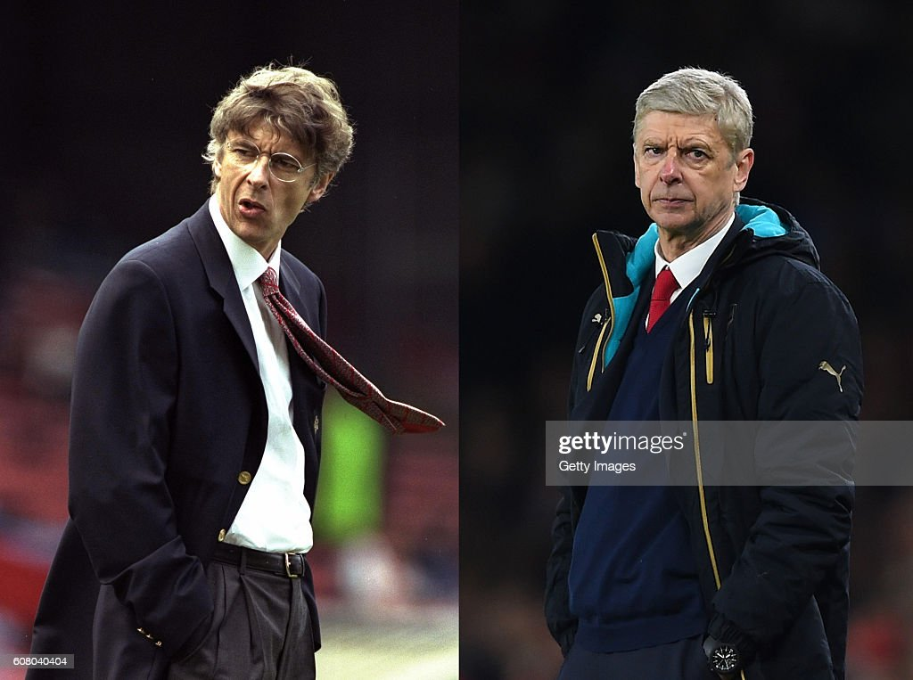 Arsene Wenger - Then and Now 20 Years at Arsenal : News Photo