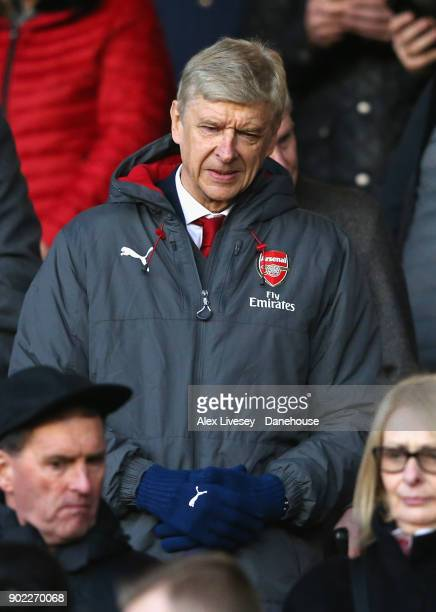 Arsene Wenger the manager of Arsenal looks on prior to the Emirates FA Cup Third Round match between Nottingham Forest and Arsenal at City Ground on...