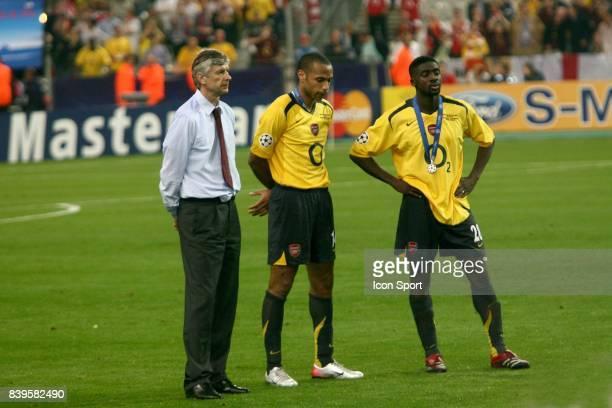 Arsene WENGER / Thierry HENRY / Kolo TOURE Fc Barcelone / Arsenal Finale de la Ligue des Champions Stade de France Paris