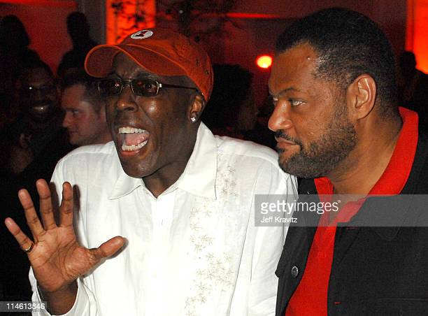 Arsenio Hall and Laurence Fishburne during I Think I Love My Wife Los Angeles Premiere After Party in Los Angeles California United States