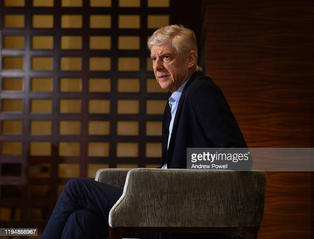 Arsène Wenger during an interview with Jurgen Klopp manager of Liverpool on December 19 2019 in Doha Qatar