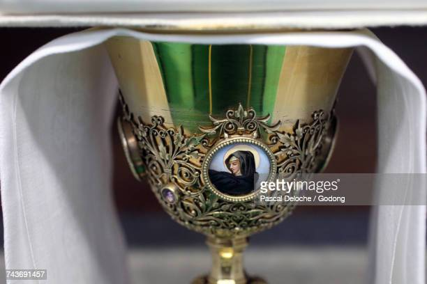 Ars-sur-Fromans. Sanctuary-Shrine of Jean-Marie Vianney (the Cure dArs). Chalice. France.