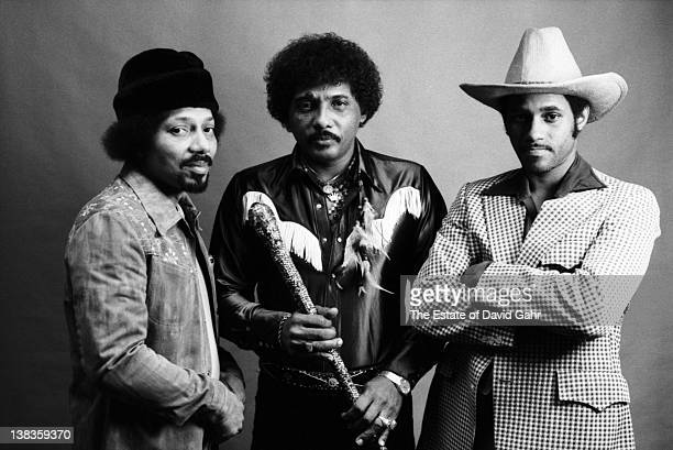 March 19 : Art, Aaron, and Cyril Neville of The Neville Brothers pose for a portrait on March 19, 1981 in New York City, New York.