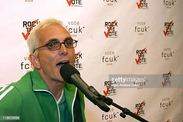 Art Alexakis lead singer of Everclear performs at the FCUK store on Newbury Street as part of the Rock the Vote Tour