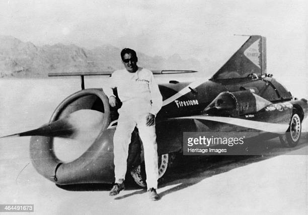 Art Arfons with 'Green Monster' Land Speed Record car c1966 Arfons set three Land Speed Records in his jetpowered 'Green Monster' car in the 1960s...