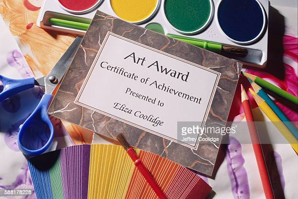 Art Award Certificate and Art Supplies