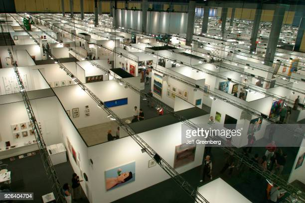 Art Basel, worldwide art galleries display art for sale.