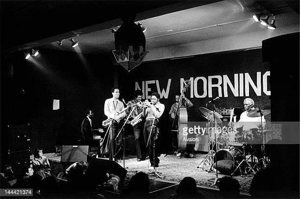 Art Blakey The Jazz Messengers performing at the New Morning Club Geneva Switzerland in March 1981 Left to right James Williams Billy Pierce Bobby...
