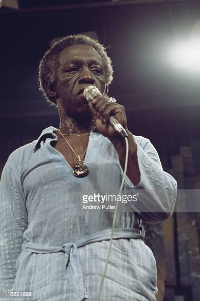 Art Blakey US jazz drummer during a live concert performance at the Montreux Jazz Festival in Montreux Switzerland 8 July 1976