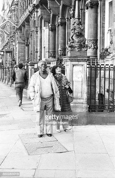 Art Blakey with Mrs Blakey London 1983 Art Blakey also known as Abdullah Ibn Buhaina was an American jazz drummer and bandleader