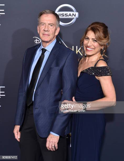 Art Brueggeman and Manijeh Brueggeman arrive at the premiere of Disney's 'A Wrinkle In Time' at El Capitan Theatre on February 26 2018 in Los Angeles...