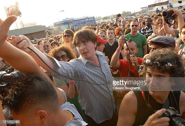 Art Brut during 6th Annual Village Voice Siren Music Festival at Coney Island in Brooklyn, New York, United States.
