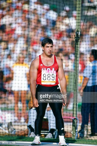 Art Burns Men's discus competition Memorial Coliseum at the 1984 Summer Olympics August 10 1984