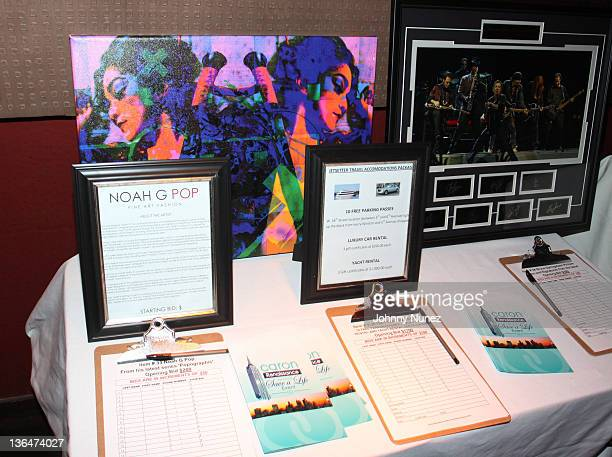 Art by Noah G Pop on display at the 2nd Annual Save A Life charity event at 1OAK on October 12 2010 in New York City