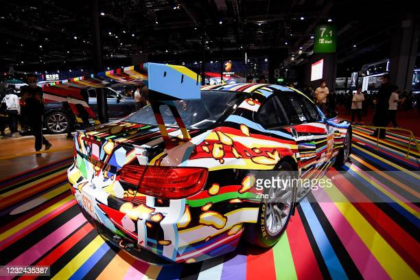 Art car design by Jeff Koons is on displayed during the 19th Shanghai International Automobile Industry Exhibition, also known as Auto Shanghai 2021,...