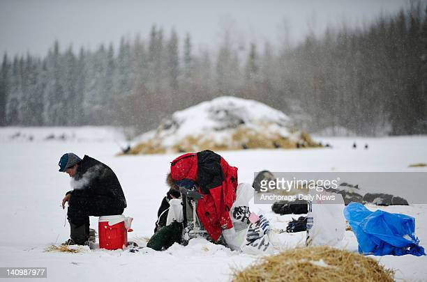 Art Church sits down for a rest at the checkpoint in Nikolai Alaska during the Iditarod Trail Sled Dog Race on Wednesday March 7 2012