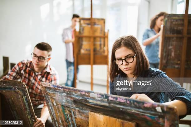 Art class in a studio!
