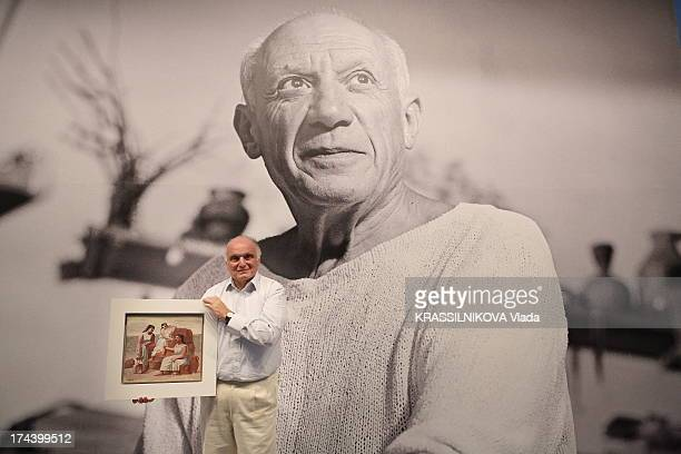 Art Collecter David Nahmad presents his collection of Picasso paintings at the Grimaldi Forum for 50 years since the death of Picasso on July 06 2013...