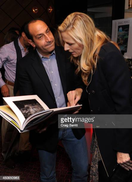 Art Collector Alberto Mugrabi and Jamie Tisch attend Acquavella Galleries Hosts a Book Launch for Enoc Perez Published by Assouline at The Mark Hotel...