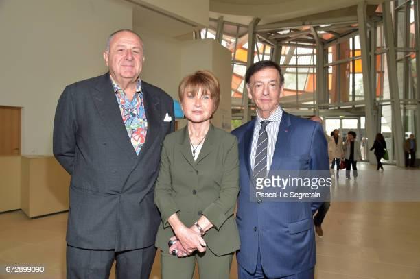 Art Collector Jean PigozziArtistic Director of the Louis Vuitton Foundation Suzanne Page and JeanPaul Claverie attend 'Art Afrique Le Nouvel Atelier'...