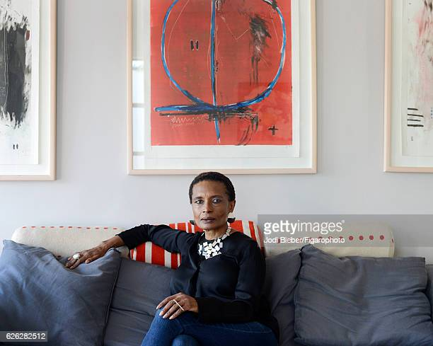 Art collector Makgati Molebatsi is photographed for Madame Figaro on June 9 2016 at home in Melville Johannesburg South Africa She travels around the...
