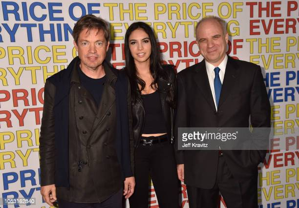 Art collector Nicolas Berggruen Noor Alfallah and director Nathaniel Kahn attend the HBO Los Angeles premiere of Price Of Everything at Hammer Museum...