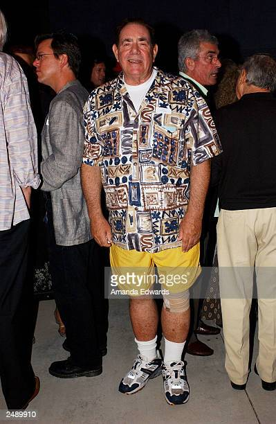 Art collector Robert Gore Rifkind poses at the Santa Monica Museum of Art's Party with Frank Gehry at Chuck Arnoldi's art studio on September 12 2003...