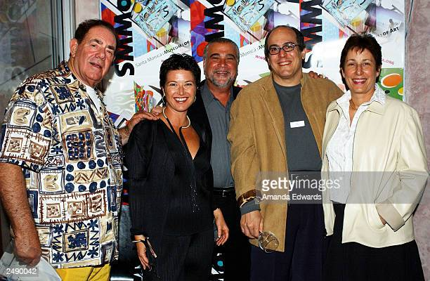 Art collector Robert Gore Rifkind poses with Lisa and Robert Berman Victoria Daley and Steve Turner at the Santa Monica Museum of Art's Party with...