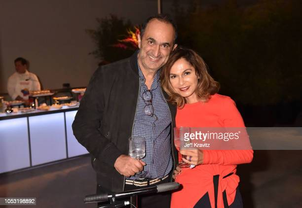 Art collectors David Nazarian and Angella Nazarian attend the after party for the HBO Los Angeles premiere of 'Price Of Everything' at Hammer Museum...