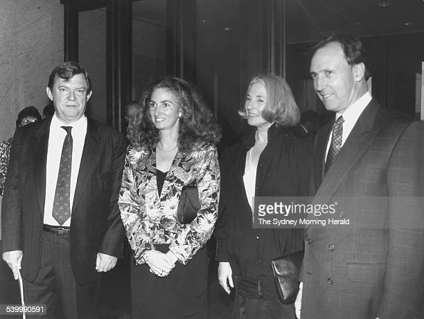 Art critic Robert Hughes left with Betty Churcher second from right Annita Keating and Prime Minister Paul Keating 28 October 1992 SMH Picture by...
