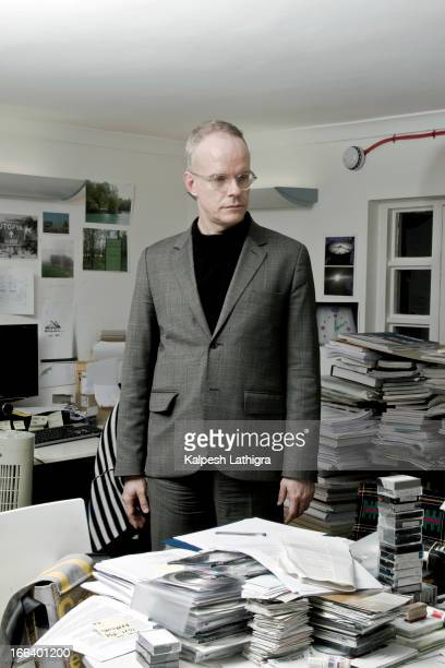 Art curator critic art historian and codirector of exhibitions at the Serpentine Gallery HansUlrich Obrist is photographed on November 30 2011 in...