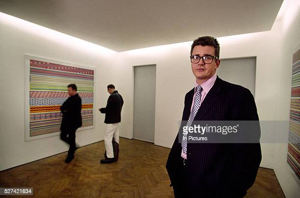 Art dealer Jay Joplin stands in his gallery White Cube at the opening of Angus Fairhurst's show