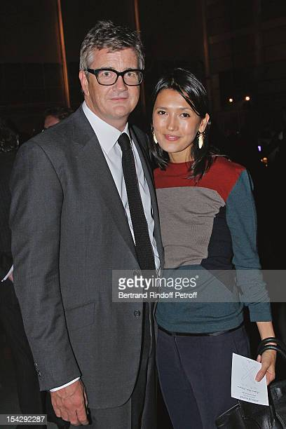 Art dealer Jay Jopling and his companion Hikari Yokohama attend a private dinner hosted at Gagosian Gallery in Honor of 'Morgenthau Plan' Exhibition...