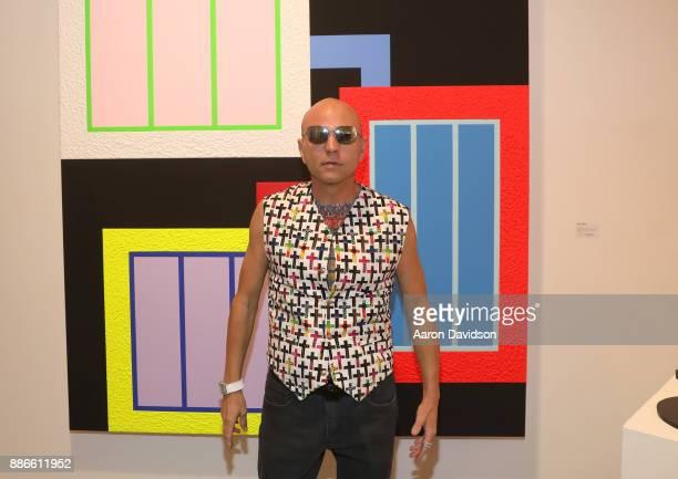 Art Dealer Poet Jimmy D Robinson attends Art Miami VIP Kickoff at Art Miami Pavilion on December 5 2017 in Miami Florida