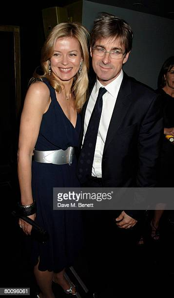 Art dealer Tim Taylor and Lady Helen Taylor of Armani arrive at the charity event 'Not Another Burns' Night', at St. Martins Hotel March 3, 2008 in...
