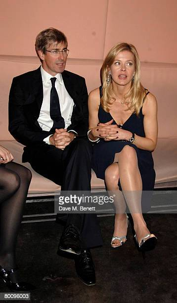 Art dealer Tim Taylor and Lady Helen Taylor of Armani attend the charity event 'Not Another Burns' Night', at St. Martins Hotel March 3, 2008 in...