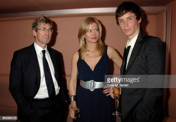 Art dealer Tim Taylor and Lady Helen Taylor of Armani with actor Eddie Redmayne attend the charity event 'Not Another Burns' Night', at St. Martins...