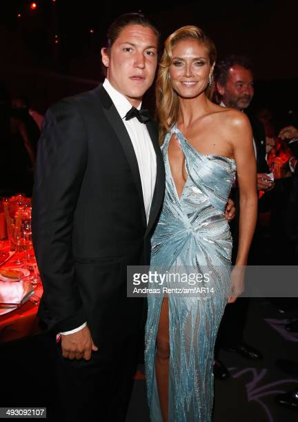 Art dealer Vito Schnabel and tv personality Heidi Klum attend amfAR's 21st Cinema Against AIDS Gala Presented By WORLDVIEW BOLD FILMS And BVLGARI at...