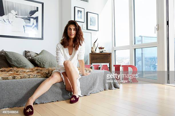Art dealer/boutique gallery owner Andi Potamkin is photographed for Hello on August 29 2015 in Williamsburg Brooklyn New York