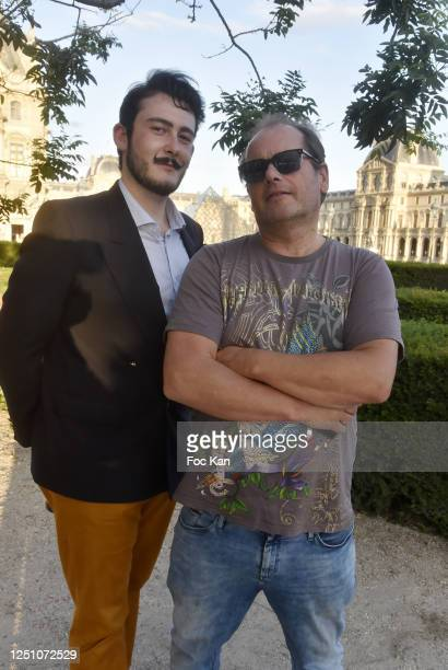 Art Dealer/pianist Valentin Cavaille de Nogaret and artist Frederic Clopet de Grovestins attend Valentin Cavaillé de Nogaret Birthday Party at Jardin...